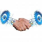 IMAGE: Digitally shaking hands