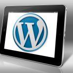 Image: WordPress logo on screen